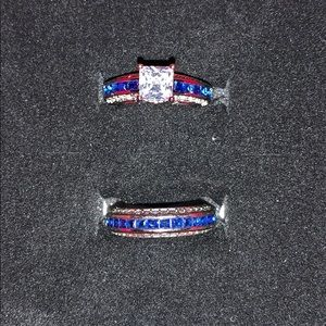 Women's Sapphire TWO Sparkling Rings!